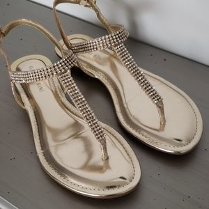 Gianni Binni Gold Diamante Emmie Sandals